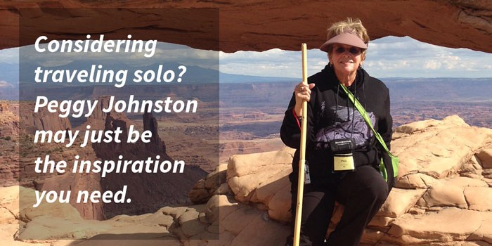 Considering traveling solo? Peggy Johnston may just be the inspiration you need.